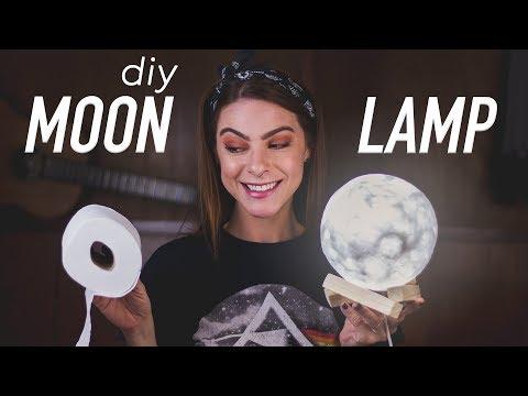 DIY :: Moon Lamp / Luminária de Lua – com papel higiênico!