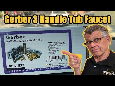 Gerber 3 Handle Tub Faucet