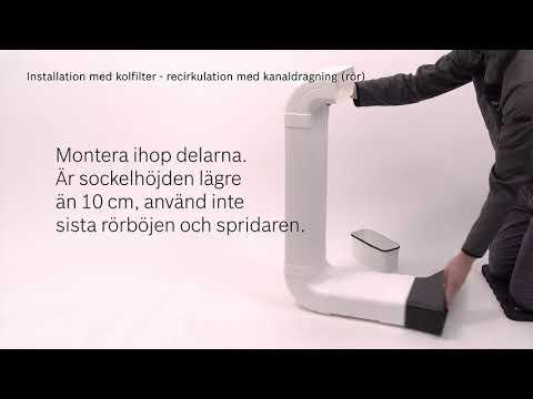 Så här monterar du Bosch induktionshäll med inbyggd köksfläkt - 2 produkter i 1.