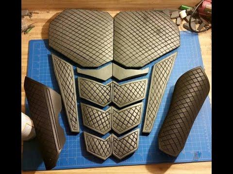 how to make shoulder armor out of eva foam