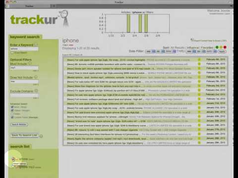 Trackur Provides Email & RSS Alerts