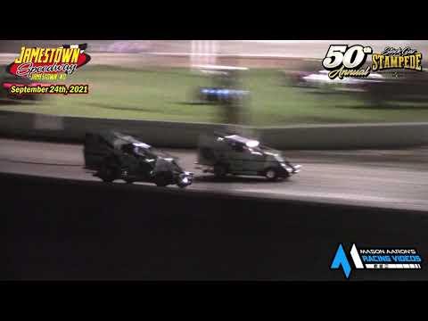 Jamestown Speedway Slingshot A-Main (50th Jamestown Stock Car Stampede) (9/24/21) - dirt track racing video image