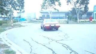 propane car burnout