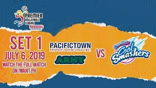 SET 1   PacificTown-Army vs. Creamline   July 6, 2019 (Watch the full game on iWant.ph)