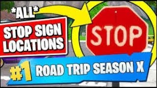 🤯 Destroy stop signs with the Catalyst outfit Fortnite Road Trip Challenge  🤯