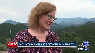Mountain lion attacks child in Bailey