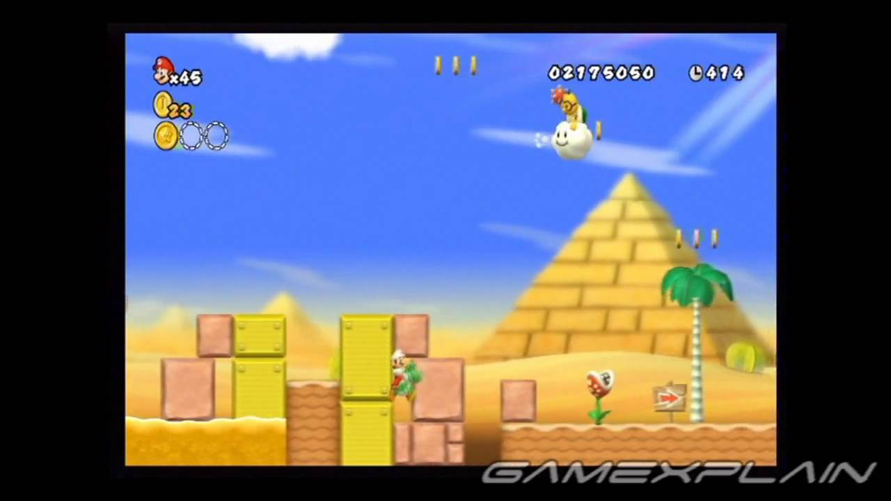 New Super Mario Bros  Wii Level 2-5 Star Coins | AudioMania lt
