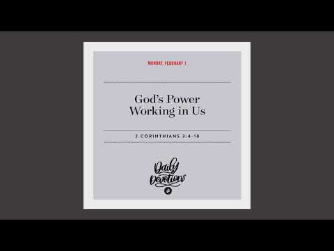 Gods Power Working in Us  Daily Devotional