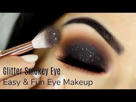 Beginners Glittery Smokey Eye Makeup Tutorial   How To Apply Eyeshadow   TheMakeupChair - UC-1-zPmT368J8JRbsK_1keA