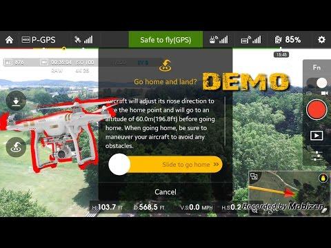 DJI Phantom 3 Professional Return To Home Demo - Lightbridge View with Telemetry - UCjmNbP5O3XDnhtv93OP2fsw