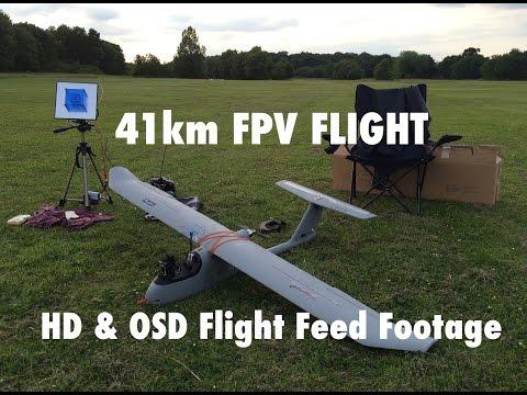 Skywalker 1900 41km Full FPV Flight - GoPro HD & OSD Flight Feed - UCfWiPjuQnYm85FUevz57LZA