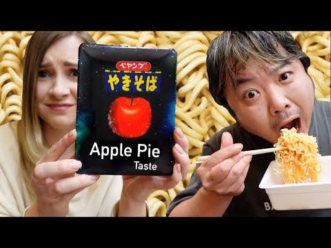 Japan Released APPLE PIE Flavour Instant Noodles 🍜