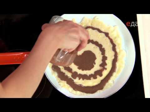 Полосатые блинчики с шоколадной начинкой - edahdtelevision