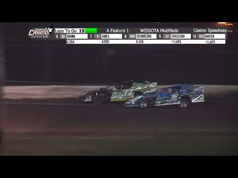 Casino 8/29/21 WISSOTA Modified Feature - dirt track racing video image