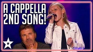 Simon Cowell Gives Ansley Burns Another Chance! | America's Got Talent 2019 | Kids Got Talent