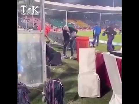 Dean Jones Cleaning The Dugout Post Karachi vs Peshawar Match