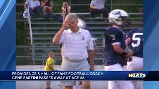 Providence's Hall of Fame football coach passes at 88