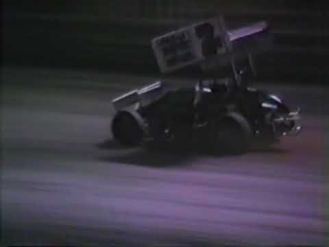 Knoxville Raceway 1984 video by Roger Arndt with Oval Track Video Productions. This video shows the Modified Sprint and Sprint Car A Main's. Dean Chadd from Nebraska wins the Modified feature. Rocky Hodges starts in the sixth row and makes his way to the front! Thanks to the NSCHoF for the video. - dirt track racing video image