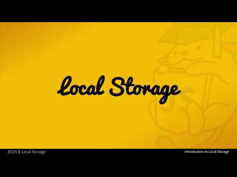 An Introduction to Local Storage with JavaScript - UC07WzVtVDVksJR30sU7-EWg