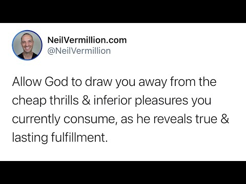 Allow Me To Fill You With All I Have For You - Daily Prophetic Word