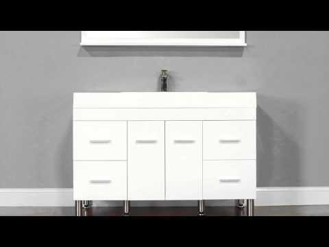 "Alya Bath AT-8042-W 47"" Single Modern Bathroom Vanity | White"