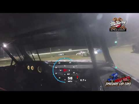 #28 Bryan White - Usra Stock Car - 9-24-2021 Midway Speedway - In Car Camera - dirt track racing video image