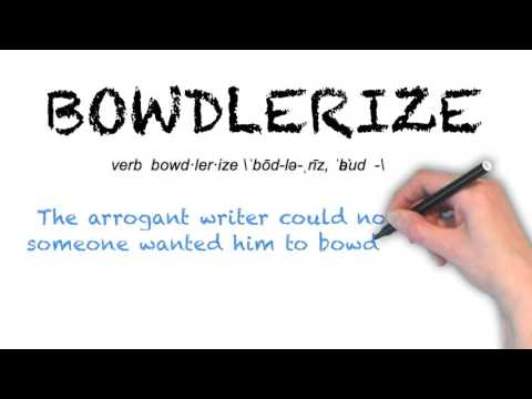 How to Pronounce 'BOWDLERIZE'- English Grammar
