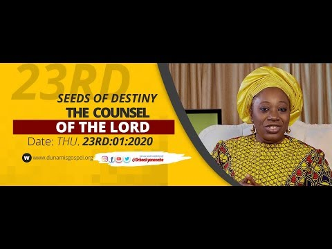 Dr Becky Paul-Enenche - SEEDS OF DESTINY - THURSDAY 23RD JANUARY 2020