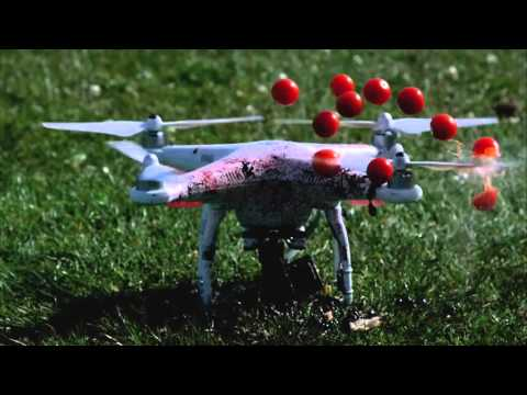 Drone Blender DJI Phantom 2 - Fruit Ninja