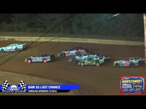 BAM $10K Street Stock LCQ - Carolina Speedway 9/18/21 - dirt track racing video image