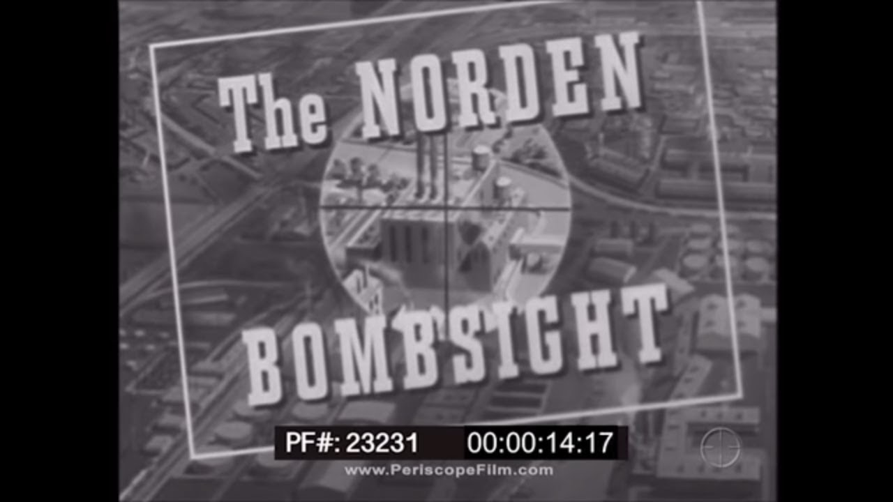 PREFLIGHT INSPECTION OF THE NORDEN BOMBSIGHT  WWII  TRAINING FILM 23231