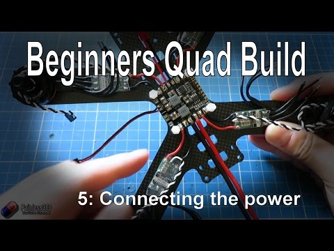 (5/9) Quadcopter Building for Beginners - Connecting the main power systems - UCp1vASX-fg959vRc1xowqpw