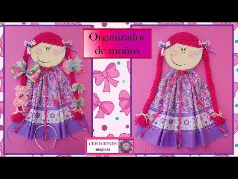 Muñeca Para Organizar Moños Y Diademascreaciones Mágicas