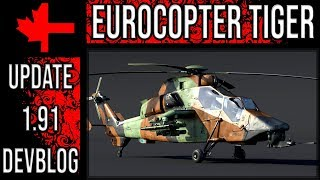 Eurocopter Tiger - Update 1.91 Devblog - War Thunder