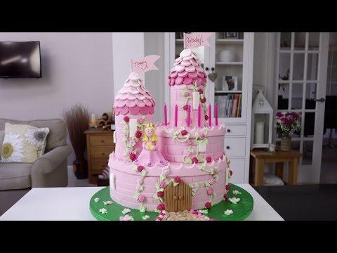 How To Make A Princess Castle Cake - Part 1