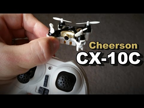 World's Smallest Quadcopter Drone With A Camera Cheerson CX-10C Vlog Review - TheRcSaylors - UCYWhRC3xtD_acDIZdr53huA