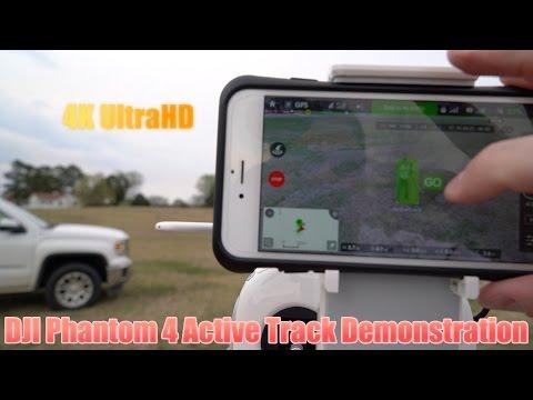 DJI Phantom 4 Active Track Demonstration