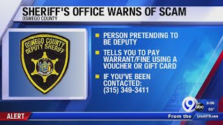 Scammer impersonating Oswego County Sheriff's Office