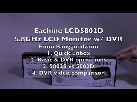 Eachine LCD5802D 40-Channel 5.8GHz Diversity DVR LCD Monitor - UCWgbhB7NaamgkTRSqmN3cnw