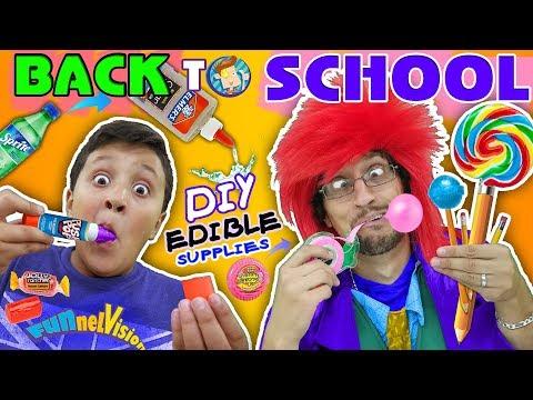 DIY EDIBLE SCHOOL SUPPLIES! Teacher vs  Supplies! FV Back to School Skit - UC4-eGDvOe41__-RiE0E9L6A