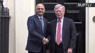 LIVE: Sajid Javid meets John Bolton at Downing Street