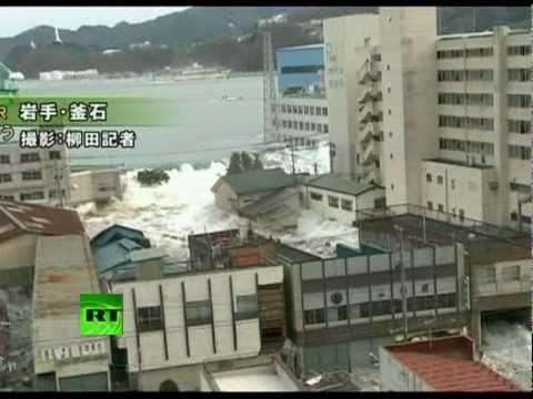 Fresh Footage Tsunami Smashing Japan