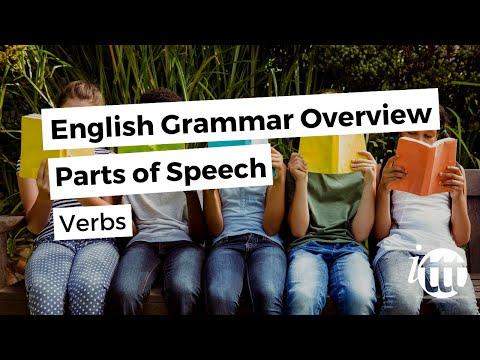English Grammar Overview - Parts of Speech - Verbs