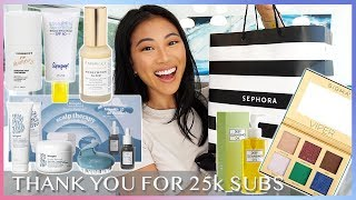 Mini GRWM & HUGE MAKEUP + SKINCARE INTERNATIONAL GIVEAWAY! | Christine Le