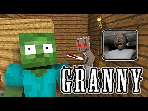Monster School: GRANNY HORROR GAME CHALLENGE - Minecraft Animation - UCwRohIVTsUkC23qRZVBbS0g