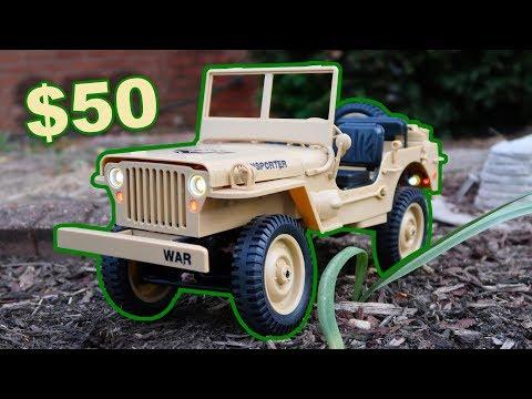 JJRC Q65 RC Army Truck 4WD Scale Crawler Front Yard Fun - TheRcSaylors - UCYWhRC3xtD_acDIZdr53huA