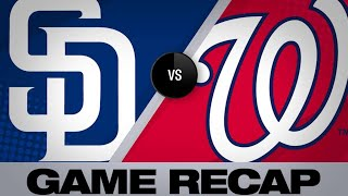 4/26/19: Renfroe's HR in 9th propels Padres past Nats