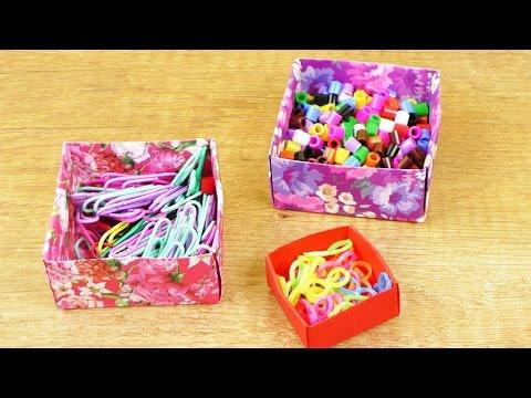 aufbewahrung falten einfach origami anleitung f r kinder diy idee box basteln blumen. Black Bedroom Furniture Sets. Home Design Ideas
