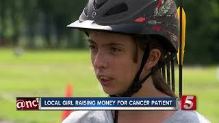 Local girl raising money during horse archery tournament for singer diagnosed with leukemia
