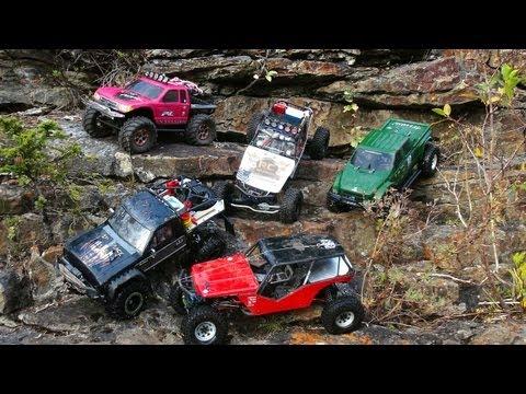 RC ADVENTURES - iNCREDiBLE TERRAiN - SiX RC 4X4 TRAiL TRUCKS at SHEEP RiVER FALLS, Alberta, Canada - UCxcjVHL-2o3D6Q9esu05a1Q